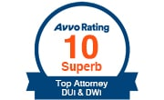 Avvo Rating 10 Superb - DUI