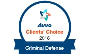 Avvo Client's Choice 2016 - Criminal Defense